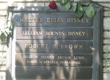Walt Disney's Headstone