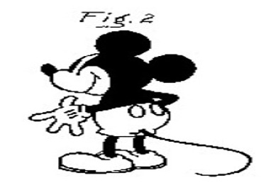Mickey Patent Drawing Rear View