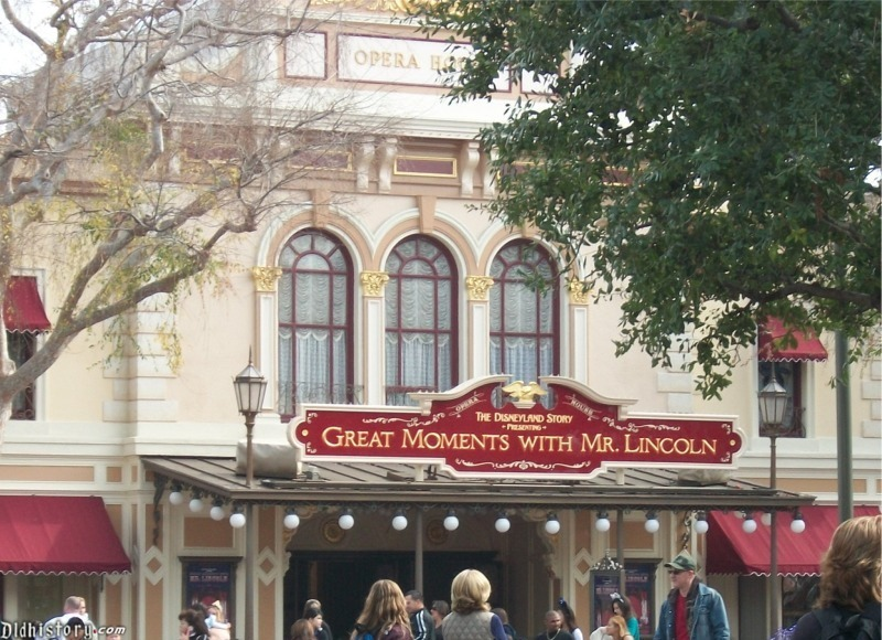 Disneyland Story Presenting Great Moments With Mr. Lincoln