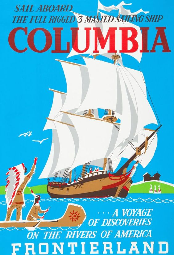 Sailing Ship Columbia Poster