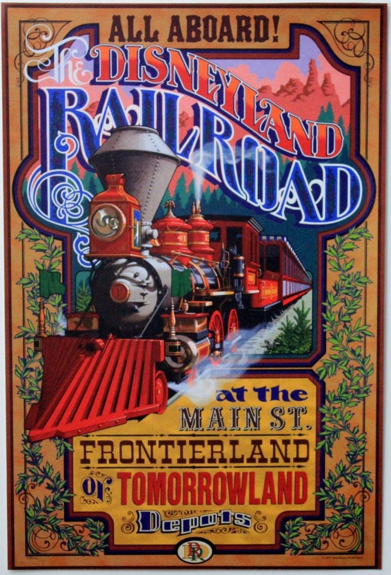 Disneyland Railroad Poster