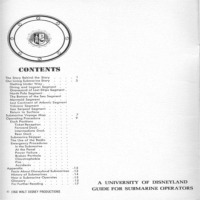 SOP Manual Table Of Contents