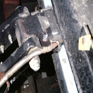 Close Up Of Tow Bar Connection  After Fatal Accident