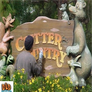 Painting The Critter Country Sign