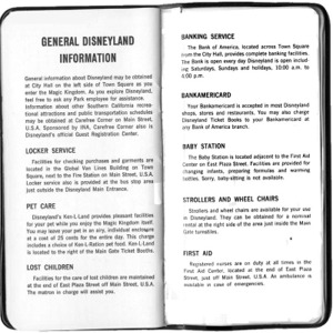General Information Pages from Castmember Handbook