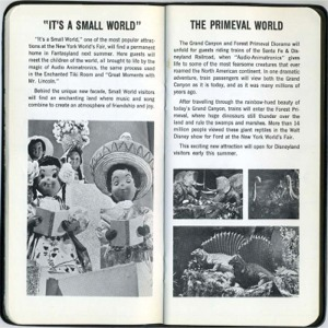 It's A Small World and Primeval World Diorama Pages from Castmember Handbook