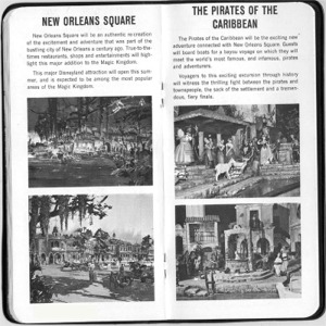 New Orleans Square and Pirates Of The Caribbean Pages from Castmember Handbook