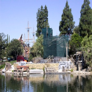 Construction On Tom Sawyer Island