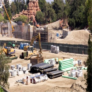 Construction Behind Big Thunder Mountain