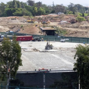 Construction-In The Foreground Was What Was The Original Roundhouse For The Disneyland Railroad