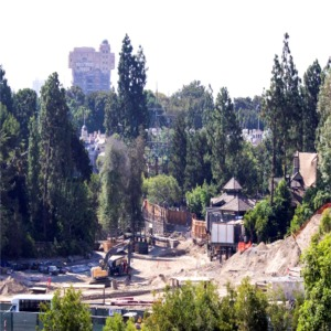 Construction Behind Hungry Bear Restaurant