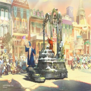 Sword And The Stone Float Artist Concept
