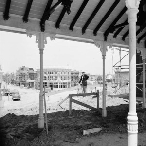 Walt Disney As Viewed From Construction Of Main Street Station
