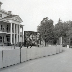 Facade During Construction With Construction Wall