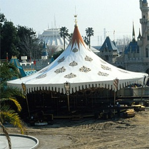 Carrousel During New Fantasyland Construction