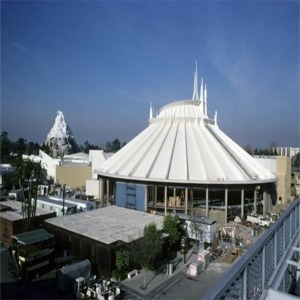 Space Mountain Construction Roof Complete No Side Walls