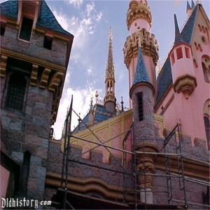Fantasyland Side With Scaffolding For 50th Anniversary Refurbishment