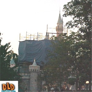 Scaffolding And Tarp For 50th Anniversary Refurbishment