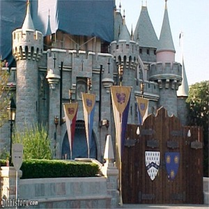 Scaffolding And Tarp And Drawbridge Closed For 50th Anniversary Refurbishment