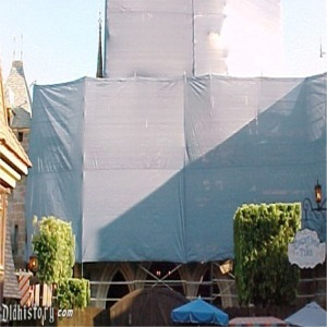 Fantasyland Side Scaffolding And Tarp For 50th Anniversary Refurbishment