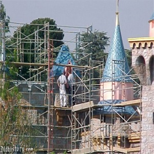 Scaffolding For 50th Anniversary Refurbishment