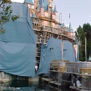 Removing Tarp After 50th Anniversary Refurbishment