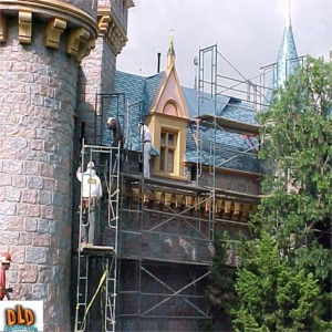 Removing Scaffolding After 50th Anniversary Refurbishment