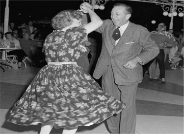Walt And Lillian Dancing At Carnation Plaza Gardens