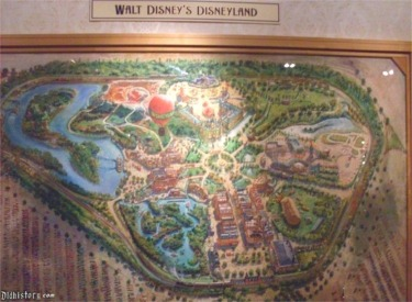 Walt Disney's Disneyland Map In Pre-Show Area