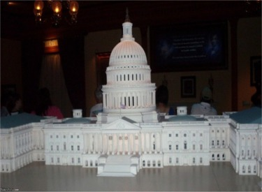United Sates Capitol Model In Pre-Show Area