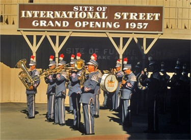 Disneyland Band In Front Of Sign