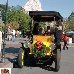 Christmas Decorations On Horseless Carriage