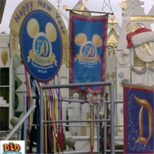 New Years Banners Near It's A Small World