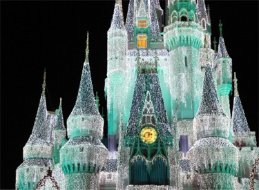 Sleeping Beauty's Castle With Lights