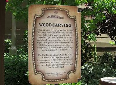 Wood Carving Sign
