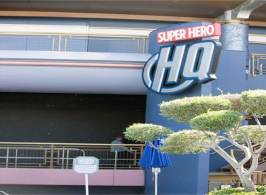 Super Hero HQ Sign