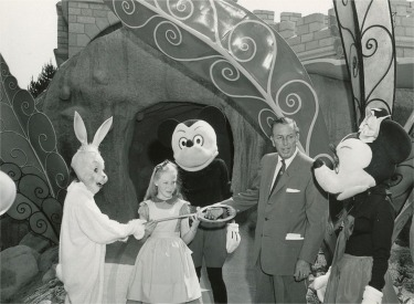 Walt Disney At Opening Of Alice In Wonderland Attraction