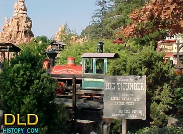 Big Thunder Town Sign And Engine #1