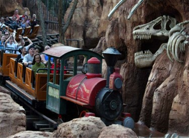 Train And Dinosaur Bones After 2014 Refurbishment