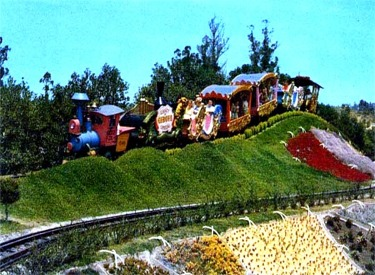 Casey Jr. Circus Train Passing Quilt Garden