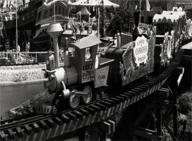 Casey Jr Train Crossing Trestle