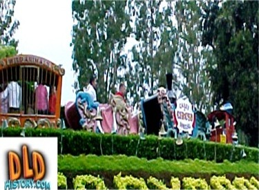Casey Jr. Circus Train Passing Over Storybook Land Sign