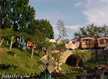 Casey Jr. Circus Train On Overpass