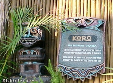 Enchanted Tiki Garden Koro Sign