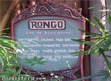 Enchanted Tiki Garden Rongo Sign