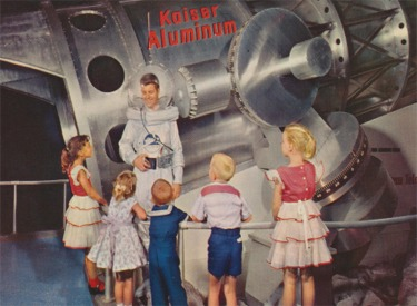 Space Man And Aluminum Telescope