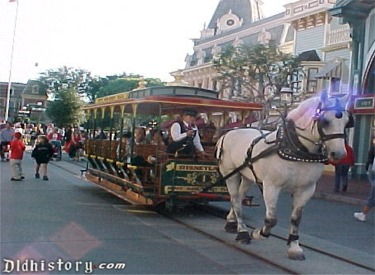 Horse-Drawn Street Car In Front Of Crystal Arcade