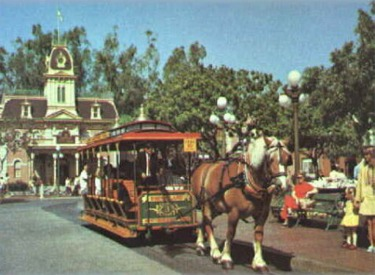 Horse-Drawn Street Car In Front Of City Hall