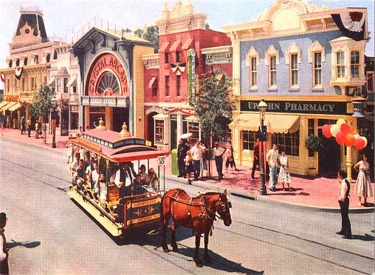 Horse-Drawn Street Car In Front Of Upjohn Pharmacy