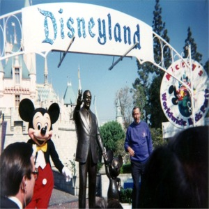 Roy Disney At Dedication Ceremony